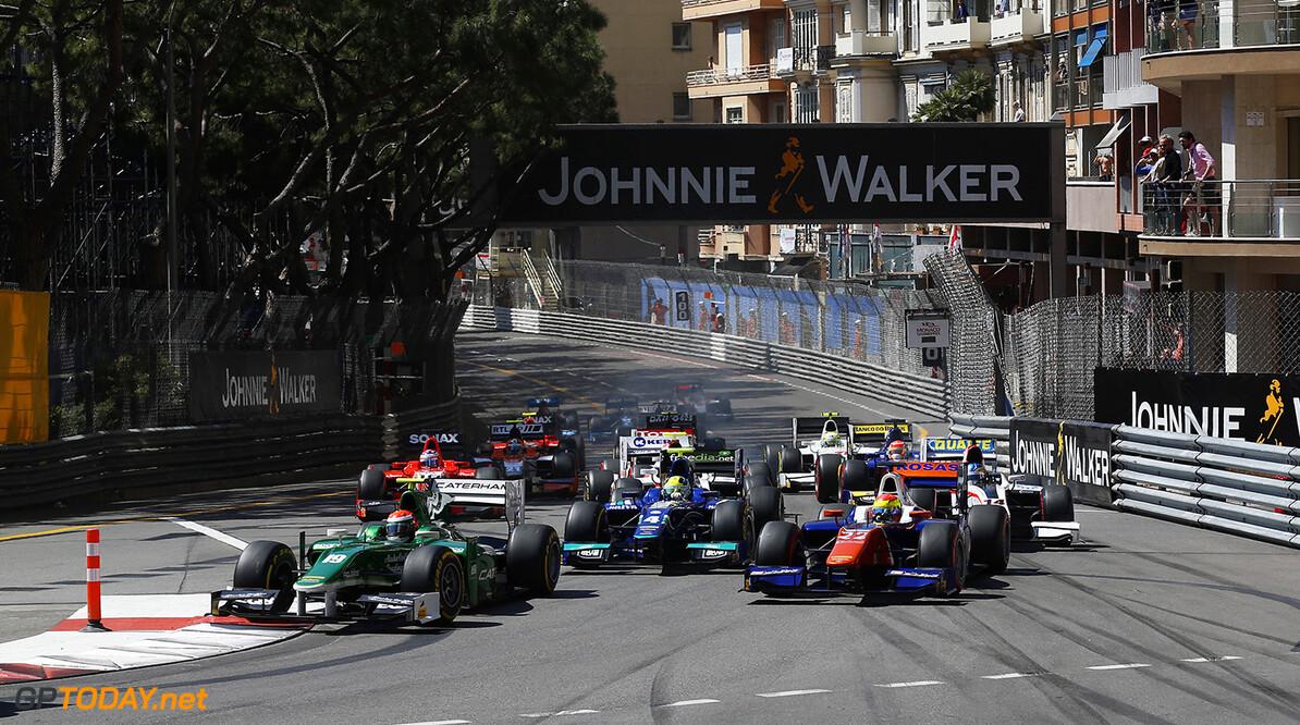 2014 GP2 Series Round 3 - Race 1 Monte Carlo, Monaco. Friday 23 May 2014. Alexander Rossi (EQ8 Caterham Racing), leads Sergio Canamasas (CAN, Trident)  Photo: Sam Bloxham/GP2 Series Media Service. ref: Digital Image _SBL2738   Sam Bloxham    Race One