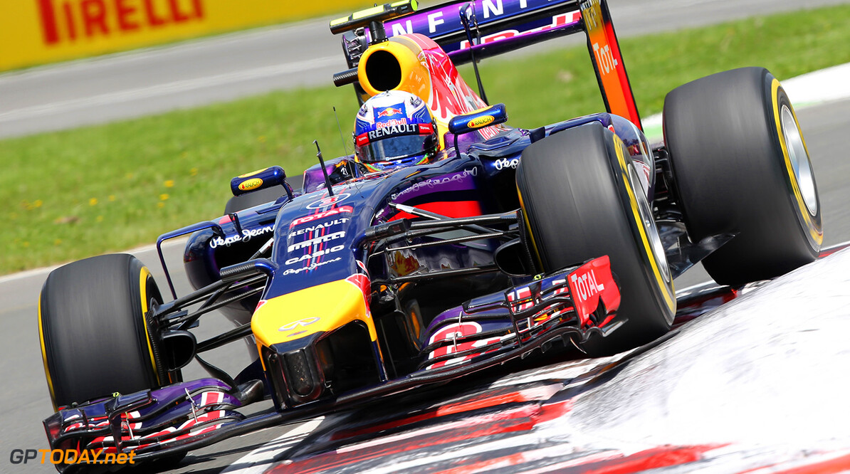 MONTREAL, QC - JUNE 07:  Daniel Ricciardo of Australia and Infiniti Red Bull Racing drives during qualifying ahead of the Canadian Formula One Grand Prix at Circuit Gilles Villeneuve on June 7, 2014 in Montreal, Canada.  (Photo by Mathias Kniepeiss/Getty Images) *** Local Caption *** Daniel Ricciardo Canadian F1 Grand Prix - Qualifying Mathias Kniepeiss Montreal Canada  Formula One Racing formula 1 Auto Racing Formula One Grand Prix Canadian F1 Grand Prix Canadian Formula One Grand Prix
