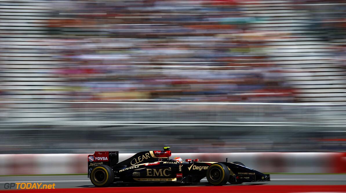Circuit Gilles Villeneuve, Montreal, Canada. Friday 6 June 2014. Pastor Maldonado, Lotus E22 Renault. World Copyright: Glenn Dunbar/LAT Photographic. ref: Digital Image _W2Q4950      f1 formula 1 formula one gp cdn Action