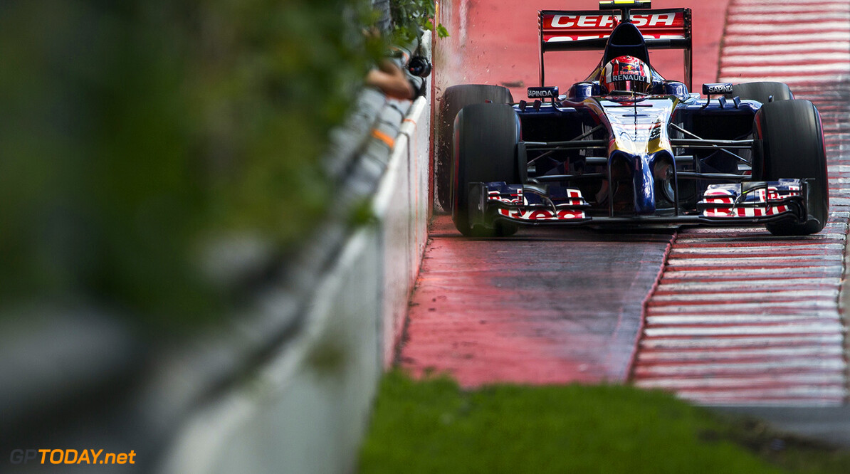 493594515PF026_Canadian_F1_ MONTREAL, QC - JUNE 06:  Daniil Kvyat of Toro Rosso and Russia ahead of the Canadian F1 Grand Prix at Circuit Gilles Villeneuve on June 6, 2014 in Montreal, Canada.  (Photo by Peter J Fox/Getty Images,) *** Local Caption *** Daniil Kvyat Canadian F1 Grand Prix - Practice Peter J Fox Montreal Canada  Formula One Racing formula 1 Auto Racing Formula One Grand Prix Canadian F1 Grand Prix Canadian Formula One Grand Prix
