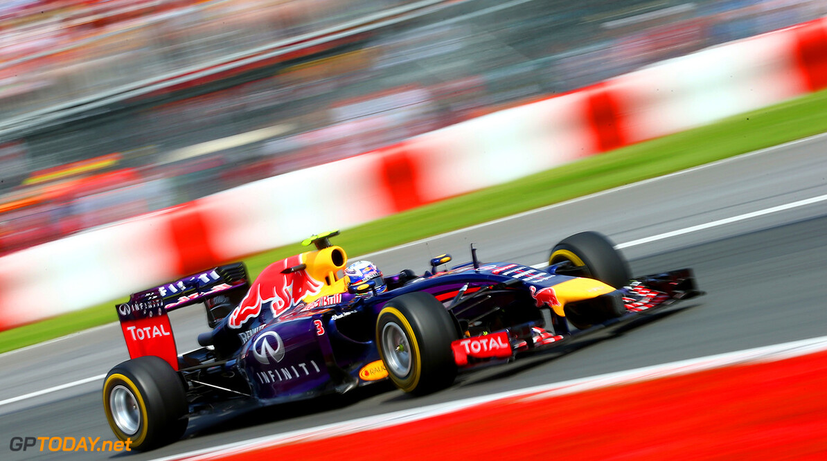 MONTREAL, QC - JUNE 08:  Daniel Ricciardo of Australia and Infiniti Red Bull Racing drives during the Canadian Formula One Grand Prix at Circuit Gilles Villeneuve on June 8, 2014 in Montreal, Canada.  (Photo by Mark Thompson/Getty Images) *** Local Caption *** Daniel Ricciardo Canadian F1 Grand Prix Mark Thompson Montreal Canada  Formula One Racing formula 1 Auto Racing Formula One Grand Prix Canadian F1 Grand Prix Canadian Formula One Grand Prix