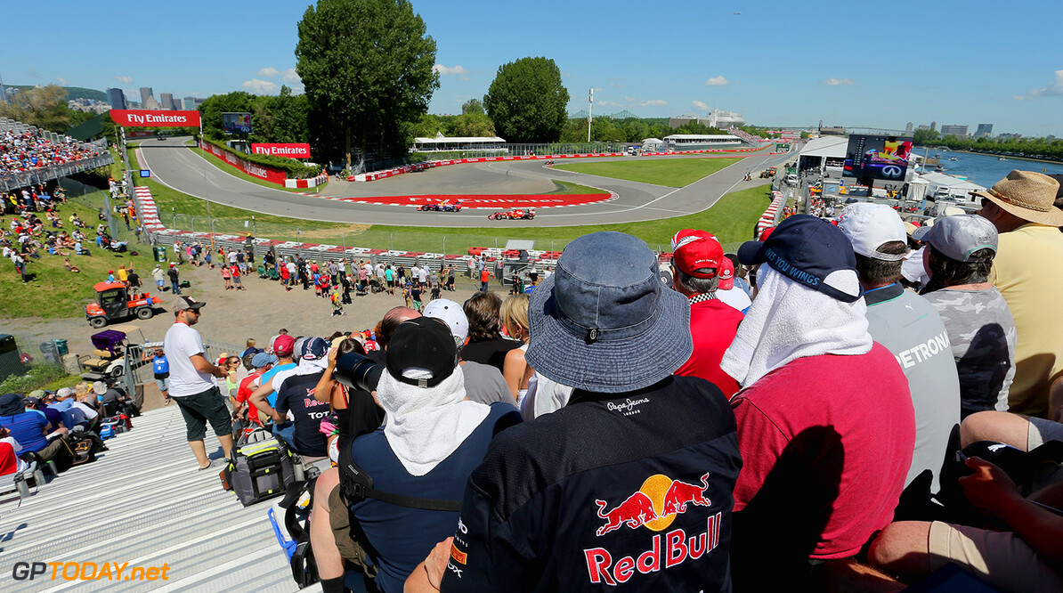MONTREAL, QC - JUNE 07:  Fans watch the action during final practice ahead of the Canadian Formula One Grand Prix at Circuit Gilles Villeneuve on June 7, 2014 in Montreal, Canada.  (Photo by Mathias Kniepeiss/Getty Images) Canadian F1 Grand Prix - Qualifying Mathias Kniepeiss Montreal Canada  Formula One Racing formula 1 Auto Racing Formula One Grand Prix Canadian F1 Grand Prix Canadian Formula One Grand Prix