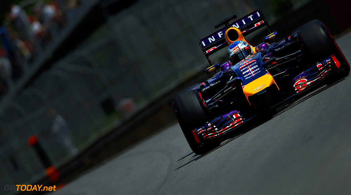 MONTREAL, QC - JUNE 07:  Sebastian Vettel of Germany and Infiniti Red Bull Racing drives during qualifying ahead of the Canadian Formula One Grand Prix at Circuit Gilles Villeneuve on June 7, 2014 in Montreal, Canada.  (Photo by Tom Pennington/Getty Images) *** Local Caption *** Sebastian Vettel Canadian F1 Grand Prix - Qualifying Tom Pennington Montreal Canada  Formula One Racing formula 1 Auto Racing Formula One Grand Prix Canadian F1 Grand Prix Canadian Formula One Grand Prix