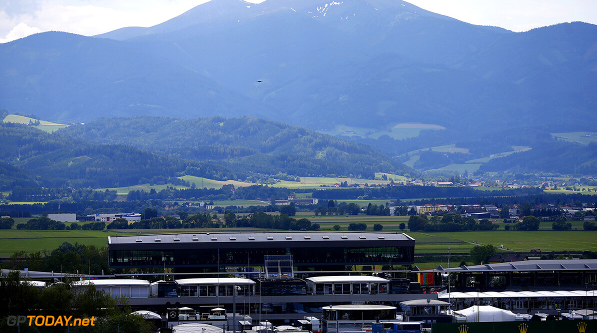 2014 Formula One Austrian Grand Prix, Red Bull Ring, Spielberg, Styria, Austria, 19th - 22nd June 2014.  Action, very scenic view of the track, Atmosphere,  World Copyright: (C) Andrew Hone Photographer 2014. Ref:  _ONY8054  Andrew Hone Spielberg Austria  Formula One F1 Austrian Grand Prix Red Bull Ring Spielberg Styria Austria