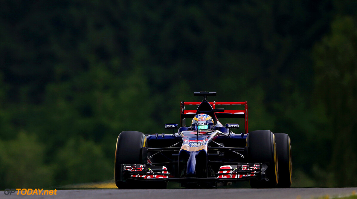 SPIELBERG, AUSTRIA - JUNE 20:  Jean-Eric Vergne of France and Scuderia Toro Rosso drives during practice ahead of the Austrian Formula One Grand Prix at Red Bull Ring on June 20, 2014 in Spielberg, Austria.  (Photo by Dom Romney/Getty Images) *** Local Caption *** Jean-Eric Vergne F1 Grand Prix of Austria - Practice Dom Romney Spielberg Austria  Formula One Racing formula 1 Auto Racing Formula One Grand Prix Austrian A1 Ring
