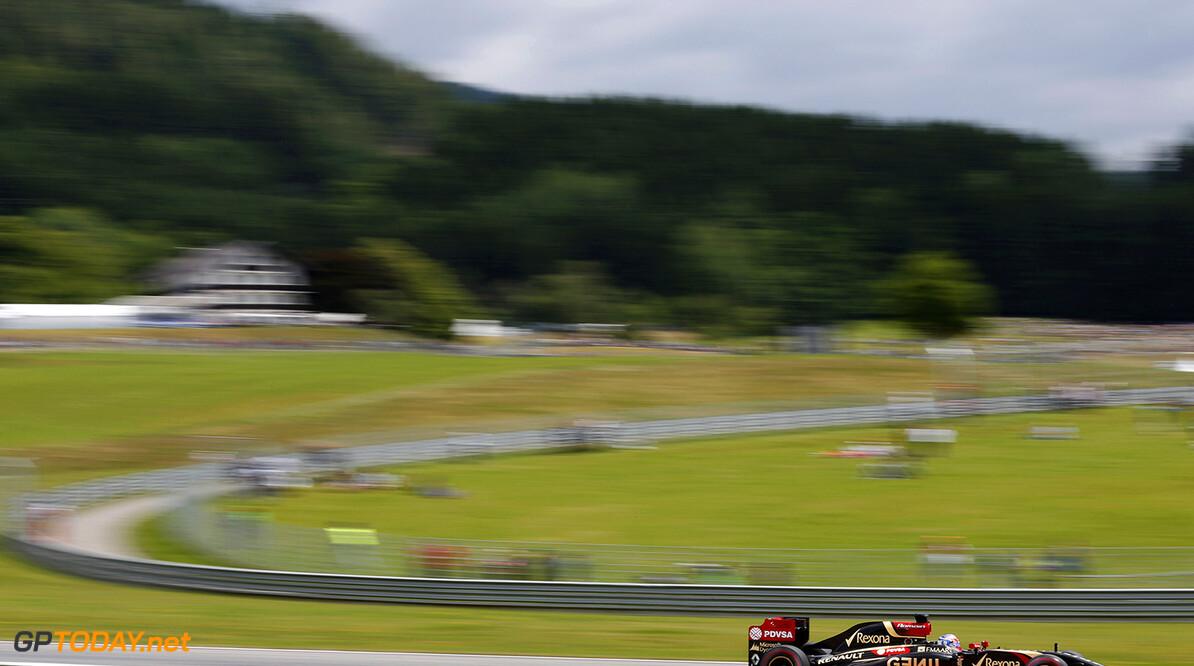 _79P5477.jpg Red Bull Ring, Spielberg, Austria. Saturday 21 June 2014. Romain Grosjean, Lotus E22 Renault. World Copyright: Alastair Staley/LAT Photographic. ref: Digital Image _79P5477 -------------------- Alastair Staley / Lotus F1 2014 FIA Formula One World Championship Austrian Grand Prix 21 June 2014 (C)2014 Alastair Staley / Lotus F1 all rights reserved Red Bull Ring, Spielberg, Austria. Saturday 21 June 2014. Romain Grosjean, Lotus E22 Renault. World Copyright: Alastair Staley/LAT Photographic. ref: Digital Image _79P5477 Alastair Staley    f1 formula 1 formula one gp aut action