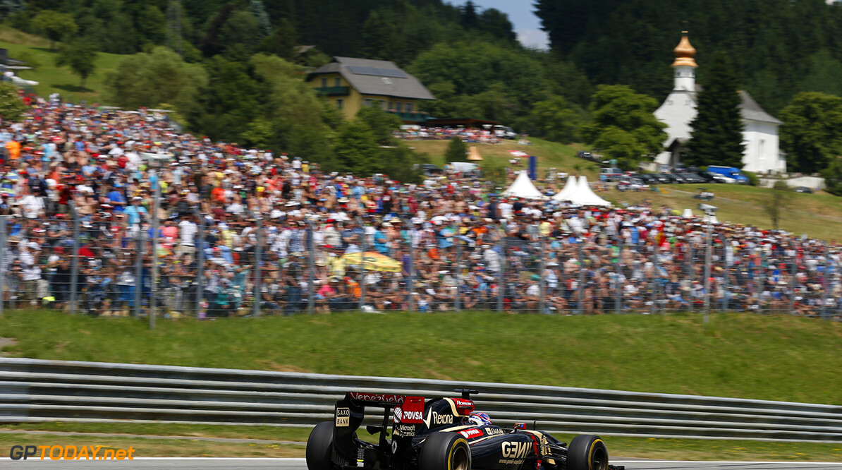 _L4R0508.jpg Red Bull Ring, Spielberg, Austria. Sunday 22 June 2014. Romain Grosjean, Lotus E22 Renault. World Copyright: Steven Tee/LAT Photographic. ref: Digital Image _L4R0508 -------------------- Steven Tee / Lotus F1 2014 FIA Formula One World Championship Austrian Grand Prix 22 June 2014 (C)2014 Steven Tee / Lotus F1 all rights reserved Red Bull Ring, Spielberg, Austria. Sunday 22 June 2014. Romain Grosjean, Lotus E22 Renault. World Copyright: Steven Tee/LAT Photographic. ref: Digital Image _L4R0508 Steven Tee    f1 formula 1 formula one gp aut action