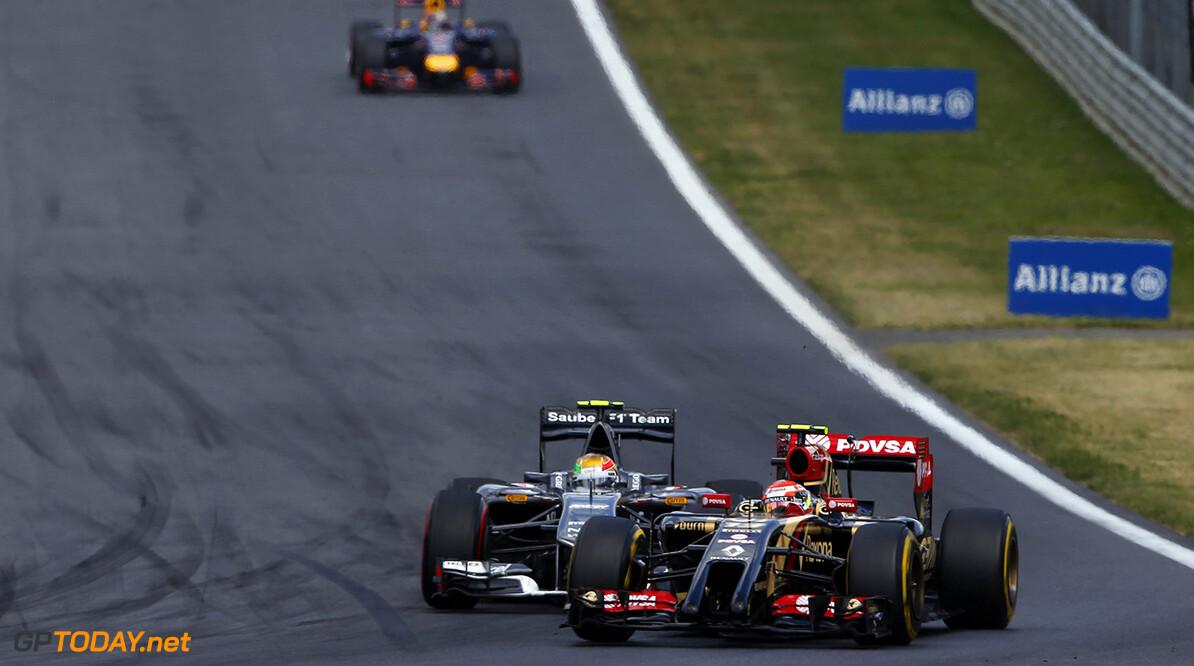 _89P7678.jpg Red Bull Ring, Spielberg, Austria. Sunday 22 June 2014. Pastor Maldonado, Lotus E22 Renault, leads Esteban Gutierrez, Sauber C33 Ferrari. World Copyright: Glenn Dunbar/LAT Photographic. ref: Digital Image _89P7678 -------------------- Glenn Dunbar / Lotus F1 2014 FIA Formula One World Championship Austrian Grand Prix 22 June 2014 (C)2014 Glenn Dunbar / Lotus F1 all rights reserved Red Bull Ring, Spielberg, Austria. Sunday 22 June 2014. Pastor Maldonado, Lotus E22 Renault, leads Esteban Gutierrez, Sauber C33 Ferrari. World Copyright: Glenn Dunbar/LAT Photographic. ref: Digital Image _89P7678 Glenn Dunbar    f1 formula 1 formula one gp aut action