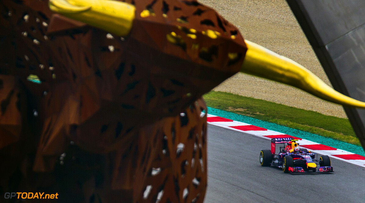 Daniel Ricciardo of Australia and Infiniti Red Bull Racing drives during practice for the Austrian Formula One Grand Prix at the Red Bull Ring on June 20, 2014 in Spielberg, Austria. (Photo by Vladimir Rys)  Vladimir Rys Spielberg Austria
