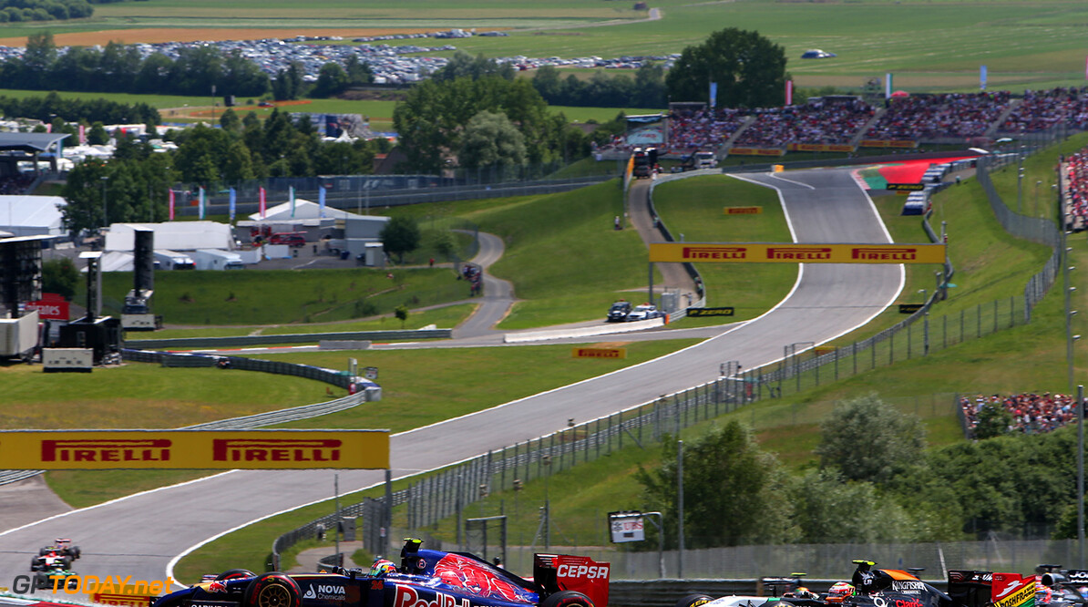 SPIELBERG, AUSTRIA - JUNE 22:  Daniil Kvyat of Russia and Scuderia Toro Rosso drives during the Austrian Formula One Grand Prix at Red Bull Ring on June 22, 2014 in Spielberg, Austria.  (Photo by Dom Romney/Getty Images) *** Local Caption *** Daniil Kvyat F1 Grand Prix of Austria Dom Romney Spielberg Austria  Formula One Racing formula 1 Auto Racing Formula One Grand Prix Austrian A1 Ring