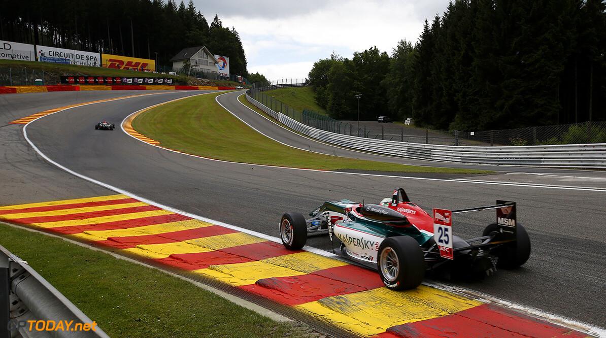 FIA Formula 3 European Championship, round 5, Spa-Francorchamps 25 Antonio Fuoco (ITA, Prema Powerteam, Dallara F312 - Mercedes), 22 Hector Hurst (GBR, Team West-Tec F3, Dallara F312 - Mercedes), FIA Formula 3 European Championship, round 5, Spa-Francorchamps (BEL) - 20. - 22. June 2014 FIA Formula 3 European Championship, round 5, Spa-Francorchamps (BEL) Thomas Suer Spa-Francorchamps Belgium