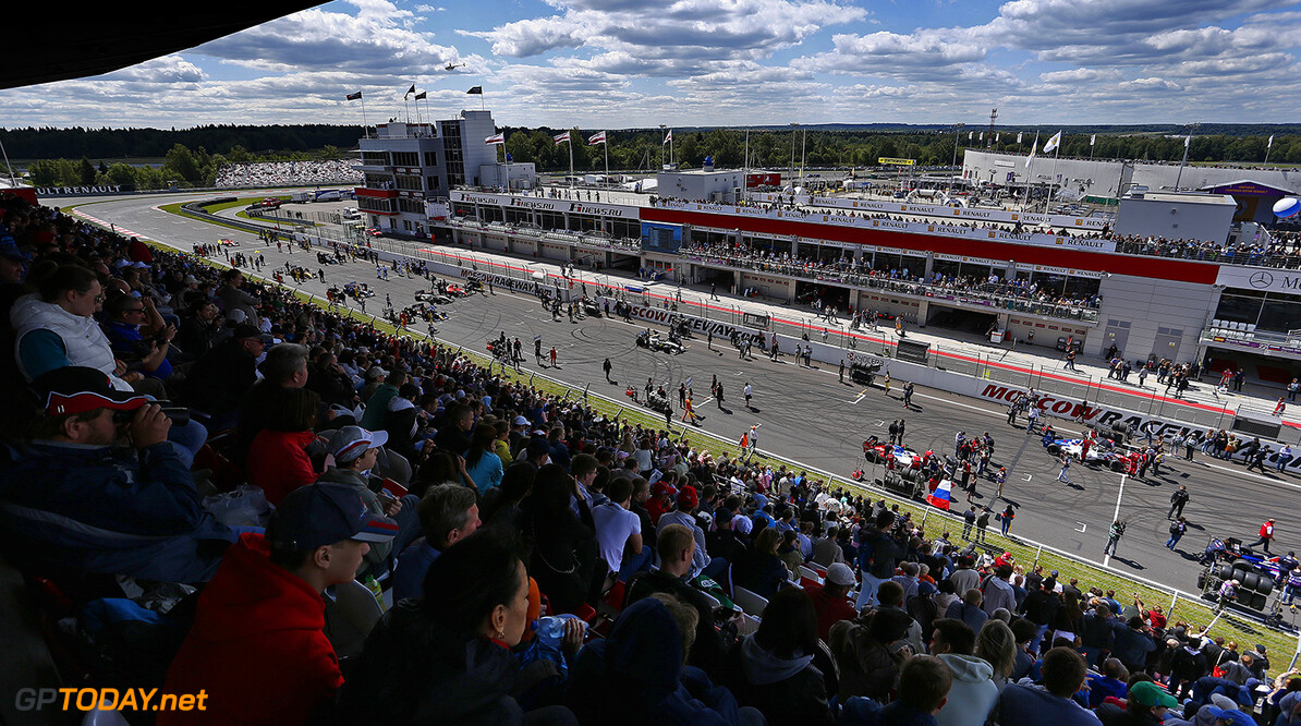 Formula Renault 3.5 grid during the 2014 World Series by Renault, on from June 27th to June 29th  2014, at Moscow Raceway, Russia. Photo Florent Gooden / DPPI AUTO - WSR MOSCOW RACEWAY 2014 FLORENT GOODEN Moscow Russia  2014 Auto Russie Car FORMULA RENAULT FR FR 3.5 MONOPLACE Motorsport Race UNIPLACE WORLD SERIES BY RENAULT WSR