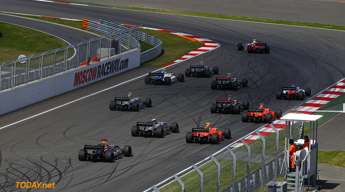 Formula Renault 3.5 start during the 2014 World Series by Renault, on from June 27th to June 29th  2014, at Moscow Raceway, Russia. Photo Florent Gooden / DPPI AUTO - WSR MOSCOW RACEWAY 2014 FLORENT GOODEN Moscow Russia  2014 Auto Russie Car FORMULA RENAULT FR FR 3.5 MONOPLACE Motorsport Race UNIPLACE WORLD SERIES BY RENAULT WSR