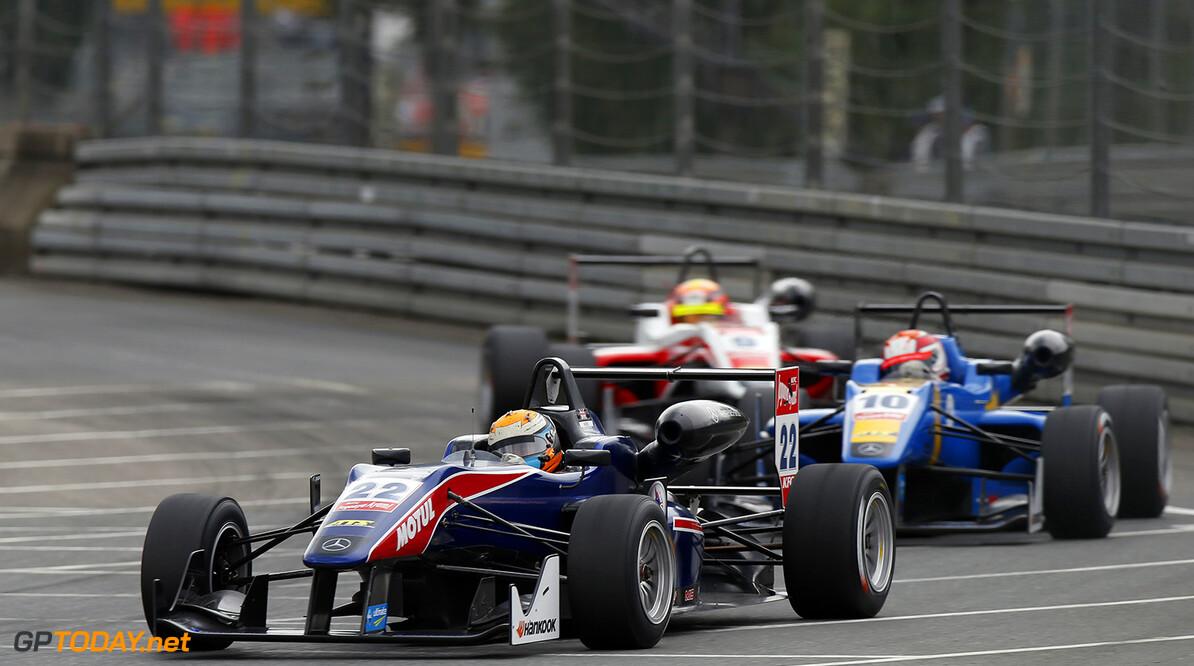 FIA Formula 3 European Championship, round 6, race 3, Norisring 22 Hector Hurst (GBR, Team West-Tec F3, Dallara F312 - Mercedes), 10 John Bryant-Meisner (SWE, Fortec Motorsports, Dallara F312 - Mercedes), 9 Mitch Gilbert (AUS, Fortec Motorsports, Dallara F312 - Mercedes), FIA Formula 3 European Championship, round 6, race 3, Norisring (GER) - 27. - 29. June 2014 FIA Formula 3 European Championship, round 6, race 3, Norisring (GER) Thomas Suer Nuremberg Germany