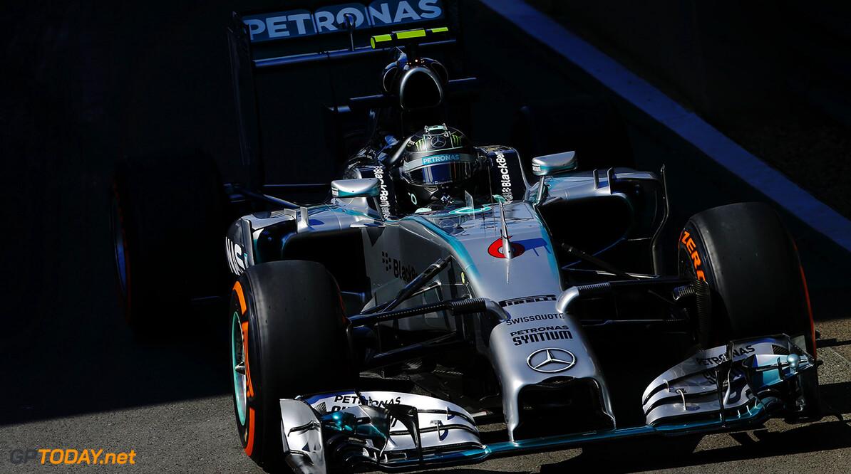 VT1: Slordige Rosberg wel de snelste op de Hockenheimring