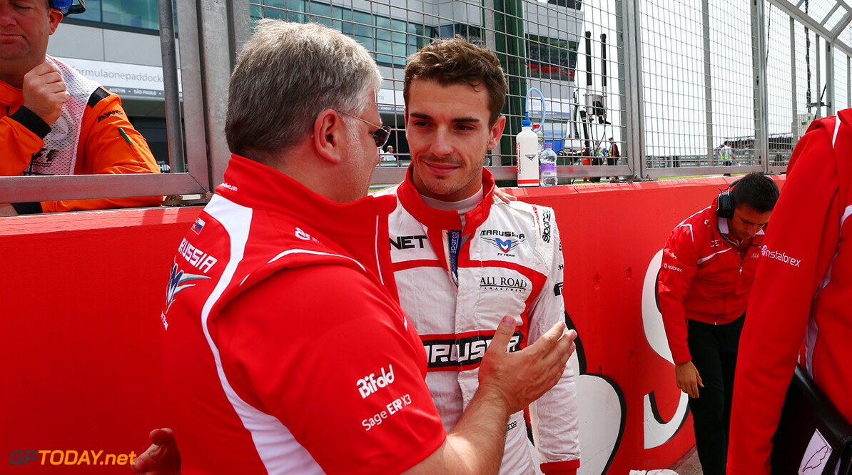 Formula One World Championship (L to R): Andrei Cheglakov (RUS) Marussia Team Owner on the grid with Jules Bianchi (FRA) Marussia F1 Team.