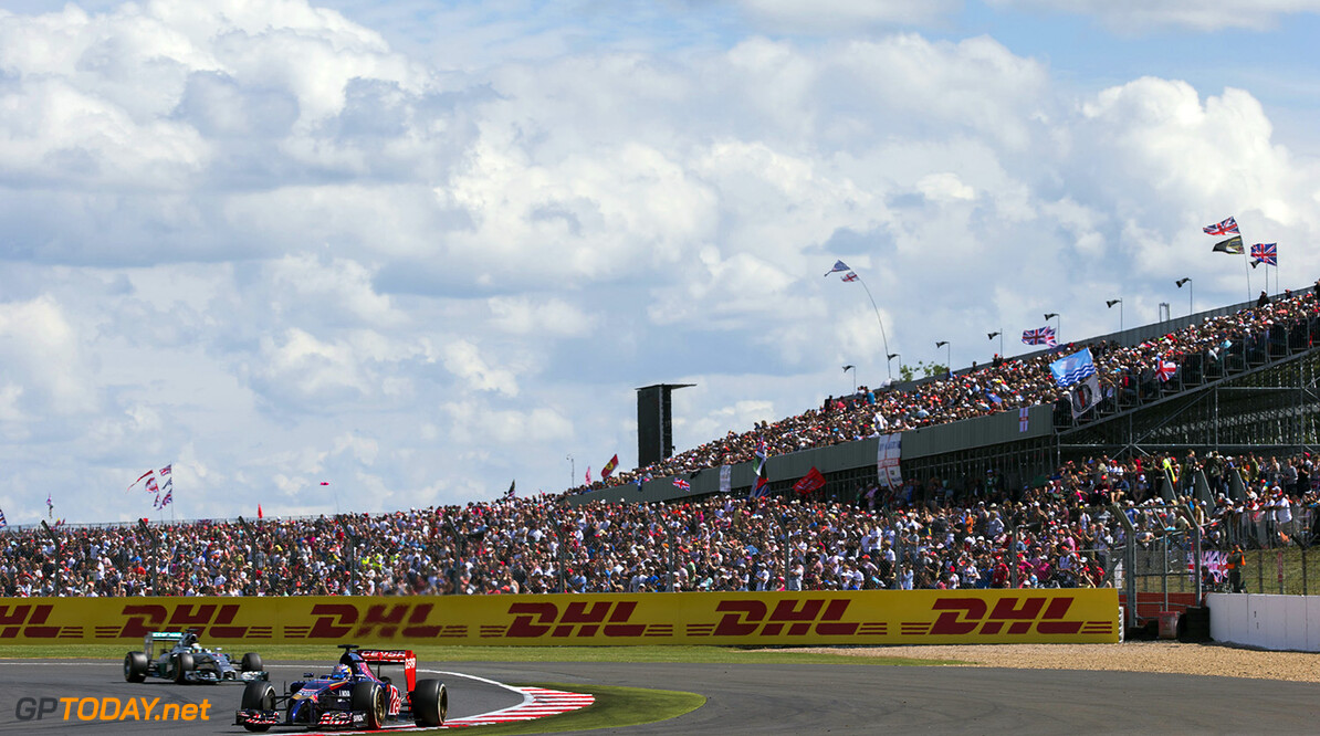 496168709PF018_F1_Grand_Pri NORTHAMPTON, ENGLAND   JULY 06: Jean-Eric Vergne of Toro Rosso and France during the British F1 Grand Prix  at Silverstone Circuit on July 6, 2014 in Northampton, England.  (Photo by Peter Fox/Getty Images) *** Local Caption *** Jean-Eric Vergne F1 Grand Prix of Great Britain Peter Fox Northampton United Kingdom  Formula One Racing formula 1 Auto Racing Formula One Grand Prix Silverstone Circuit British GP British Formula One Grand Prix