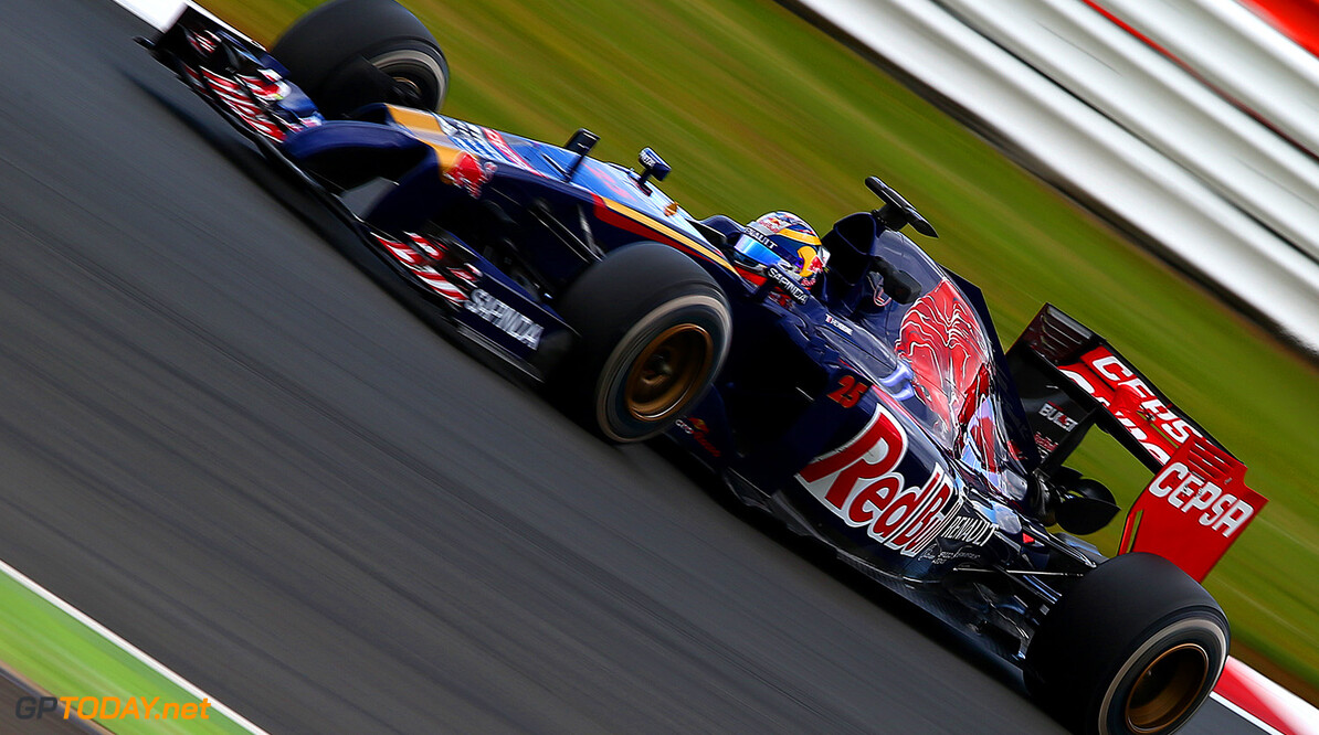 NORTHAMPTON, ENGLAND - JULY 08:  Jean-Eric Vergne of France and Scuderia Toro Rosso drives during day one of testing at Silverstone Circuit on July 8, 2014 in Northampton, England.  (Photo by Dan Istitene/Getty Images) *** Local Caption *** Jean-Eric Vergne F1 Testing At Silverstone - Day One Dan Istitene Northampton United Kingdom  Formula One Racing formula 1 Auto Racing Formula One Grand Prix Silverstone Circuit British GP British Formula One Grand Prix