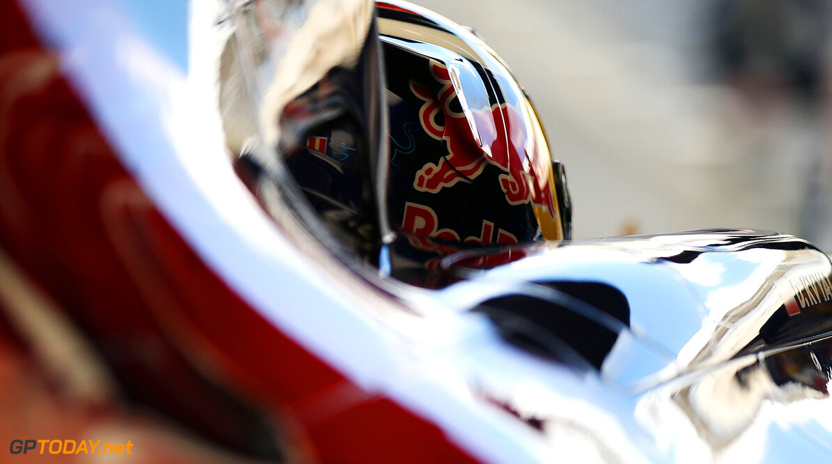 NORTHAMPTON, ENGLAND - JULY 09:  Daniil Kvyat of Russia and Scuderia Toro Rosso sits in his car in the garage during day two of testing at Silverstone Circuit on July 9, 2014 in Northampton, England.  (Photo by Mark Thompson/Getty Images) *** Local Caption *** Daniil Kvyat F1 Testing At Silverstone - Day Two Mark Thompson Northampton United Kingdom  Formula One Racing formula 1 Auto Racing Formula One Grand Prix Silverstone Circuit British GP British Formula One Grand Prix