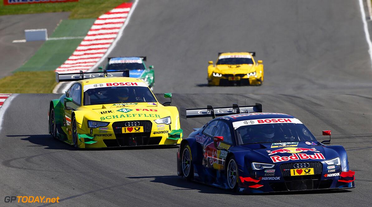 #7 Mattias Ekstrom (S, Audi Sport Team Abt Sportsline, Audi RS 5 DTM), #1 Mike Rockenfeller (GER, Audi Sport Team Phoenix, Audi RS 5 DTM)
