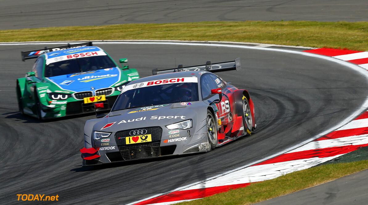 #15 Edoardo Mortara (E, Audi Sport Team Abt, Audi RS 5 DTM), #3 Augusto Farfus (BR), BMW Team RBM, BMW M4 DTM)
