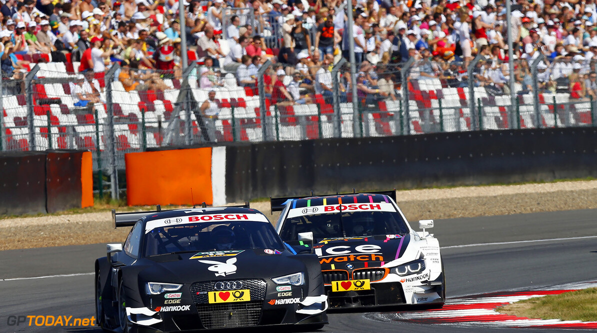 #16 Adrien Tambay (F, Audi Sport Team Abt, Audi RS 5 DTM), #23 Marco Wittmann (D, BMW Team RMG, BMW M4 DTM)