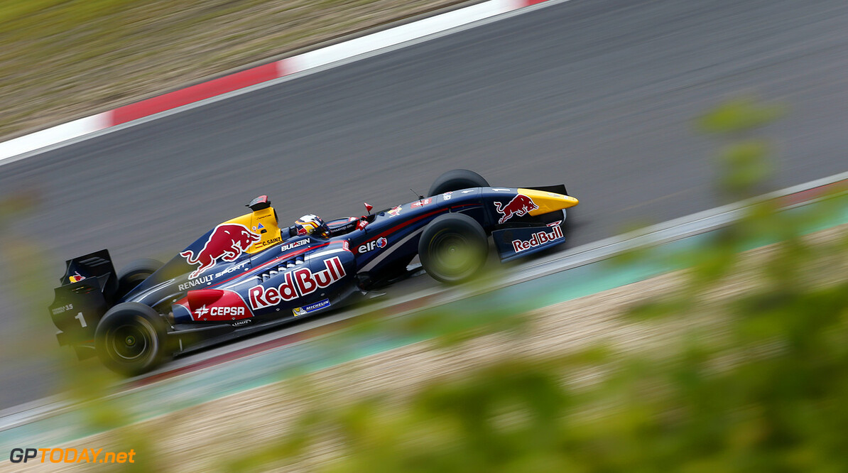 01 SAINZ Carlos (Spa) Formula Renault 3.5 Dams action during the 2014 World Series by Renault, on from July 11th to 13th 2014, at Nurburgring, Germany. Photo Jean Michel Le Meur / DPPI AUTO - WSR NURBURGRING 2014 JEAN MICHEL LE MEUR Nurburg Germany  Auto Car CHAMPIONNAT ESPAGNE Europe FORMULES Motorsport RENAULT SPORT series Sport VOITURES WORLD WSR 2014 FORMULA RENAULT FR FR 3.5 MONOPLACE Race ALLEMAGNE UNIPLACE WORLD SERIES BY RENAULT