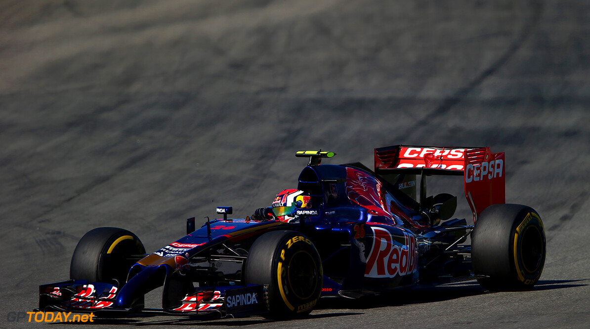 HOCKENHEIM, GERMANY - JULY 18:  Daniil Kvyat of Russia and Scuderia Toro Rosso drives during practice ahead of the German Grand Prix at Hockenheimring on July 18, 2014 in Hockenheim, Germany.  (Photo by Dan Istitene/Getty Images) *** Local Caption *** Daniil Kvyat F1 Grand Prix of Germany - Practice Dan Istitene Hockenheim Germany  Formula One Racing formula 1 Auto Racing Formula One Grand Prix german grand prix German Formula One Grand Prix