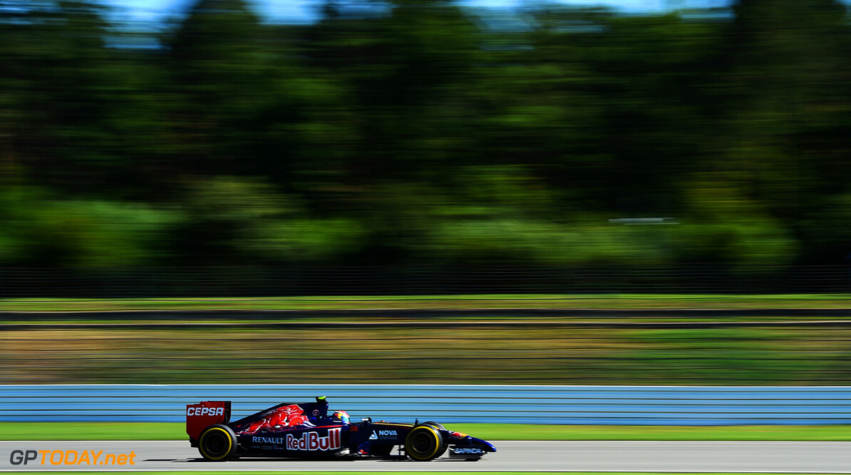 HOCKENHEIM, GERMANY - JULY 18:  Daniil Kvyat of Russia and Scuderia Toro Rosso drives during practice ahead of the German Grand Prix at Hockenheimring on July 18, 2014 in Hockenheim, Germany.  (Photo by Christopher Lee/Getty Images) *** Local Caption *** Daniil Kvyat F1 Grand Prix of Germany - Practice Christopher Lee Hockenheim Germany  Formula One Racing formula 1 Auto Racing Formula One Grand Prix german grand prix German Formula One Grand Prix