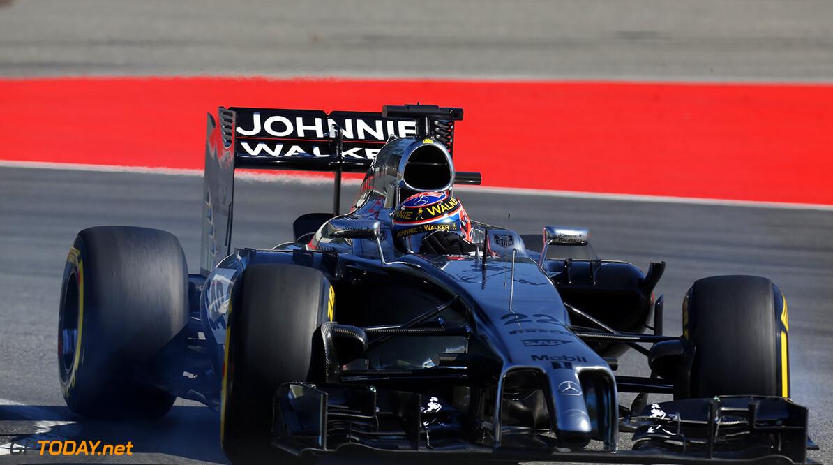 Jenson Button on track.  Al Staley