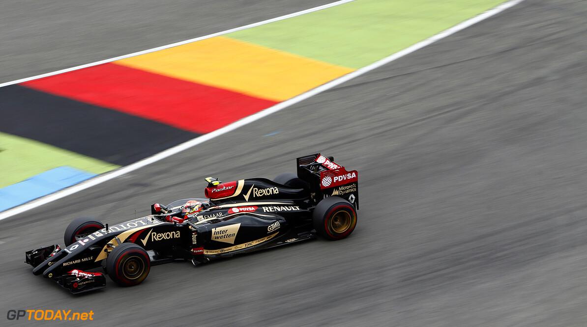 Hockenheimring, Hockenheim, Germany. Sunday 20 July 2014. Pastor Maldonado, Lotus E22 Renault. Photo: Sam Bloxham/Lotus F1 Team. ref: Digital Image _SBL2620  Sam Bloxham    f1 formula 1 formula one german gp Action