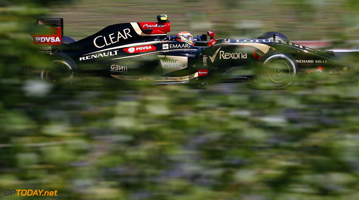 Hungaroring, Budapest, Hungary. Friday 25 July 2014. Pastor Maldonado, Lotus E22 Renault. World Copyright: Steven Tee/Lotus F1. ref: Digital Image _L4R7549      f1 formula 1 formula one gp Action