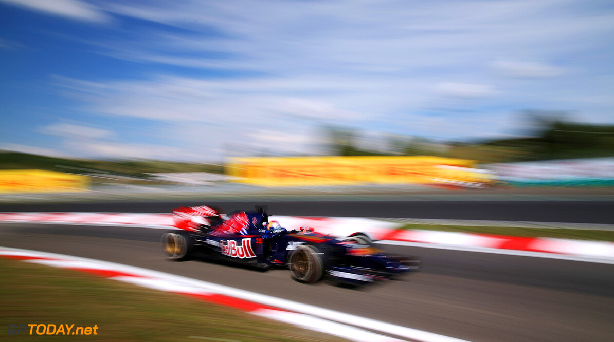 BUDAPEST, HUNGARY - JULY 25:  Jean-Eric Vergne of France and Scuderia Toro Rosso drives  during practice ahead of the Hungarian Formula One Grand Prix at Hungaroring on July 25, 2014 in Budapest, Hungary.  (Photo by Mark Thompson/Getty Images) *** Local Caption *** Jean-Eric Vergne F1 Grand Prix of Hungary - Practice Mark Thompson Budapest Hungary  Formula One Racing formula 1 Auto Racing Formula One Grand Prix