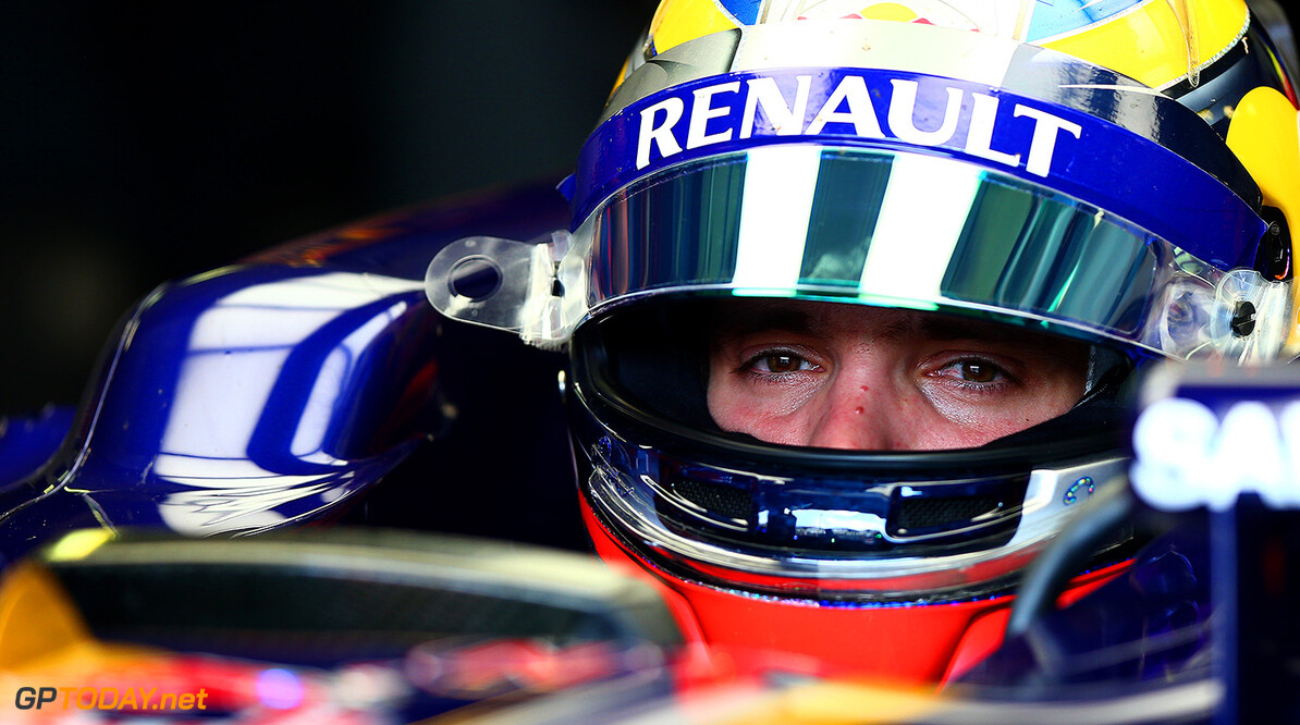 BUDAPEST, HUNGARY - JULY 26:  Jean-Eric Vergne of France and Scuderia Toro Rosso sits in his car in the garage during final practice ahead of the Hungarian Formula One Grand Prix at Hungaroring on July 26, 2014 in Budapest, Hungary.  (Photo by Dan Istitene/Getty Images) *** Local Caption *** Jean-Eric Vergne F1 Grand Prix of Hungary - Qualifying Dan Istitene Budapest Hungary  Formula One Racing formula 1 Auto Racing Formula One Grand Prix
