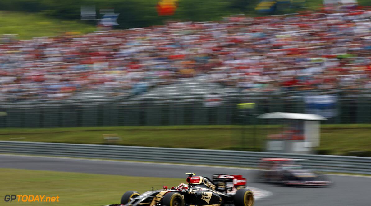 Hungaroring, Budapest, Hungary. Sunday 27 July 2014. Pastor Maldonado, Lotus E22 Renault. World Copyright: Glenn Dunbar/Lotus F1 Team. ref: Digital Image _W2Q1842      f1 formula 1 formula one gp Action