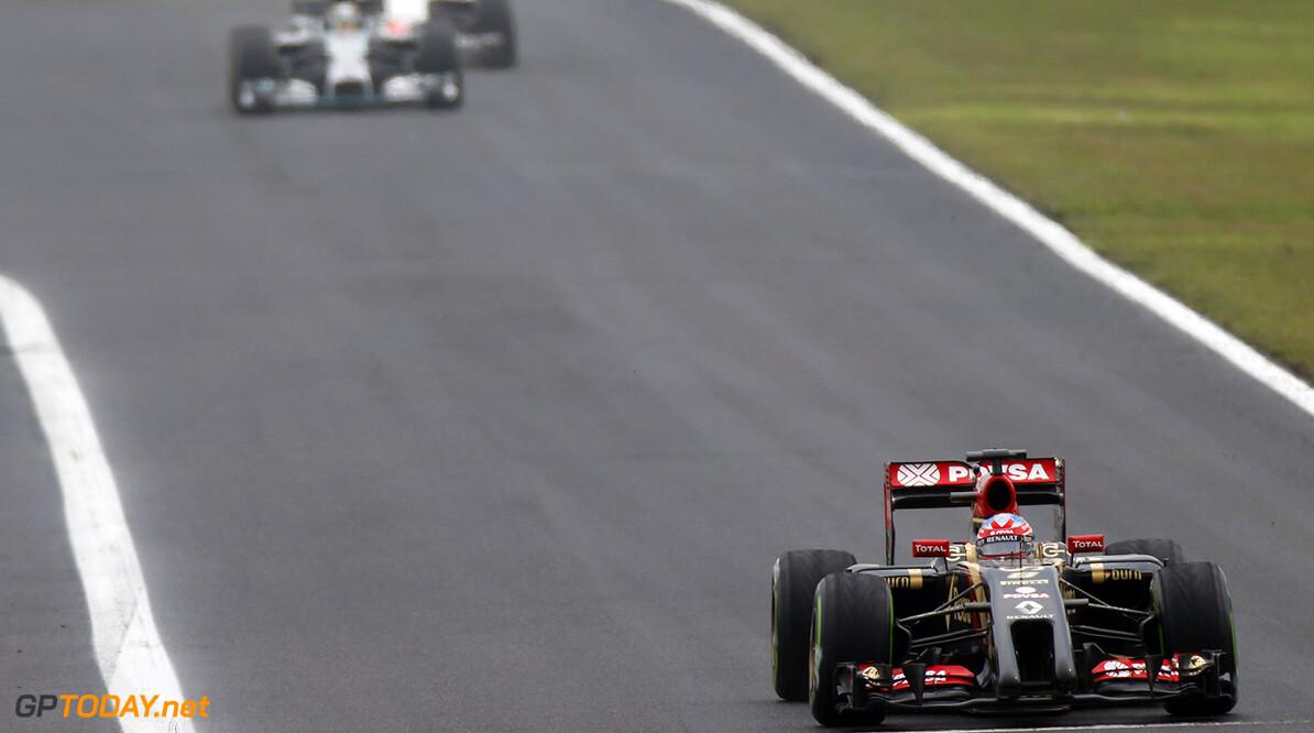 Hungaroring, Budapest, Hungary. Sunday 27 July 2014. Romain Grosjean, Lotus E22 Renault. World Copyright: Glenn Dunbar/Lotus F1 Team. ref: Digital Image _89P0564      f1 formula 1 formula one gp Action