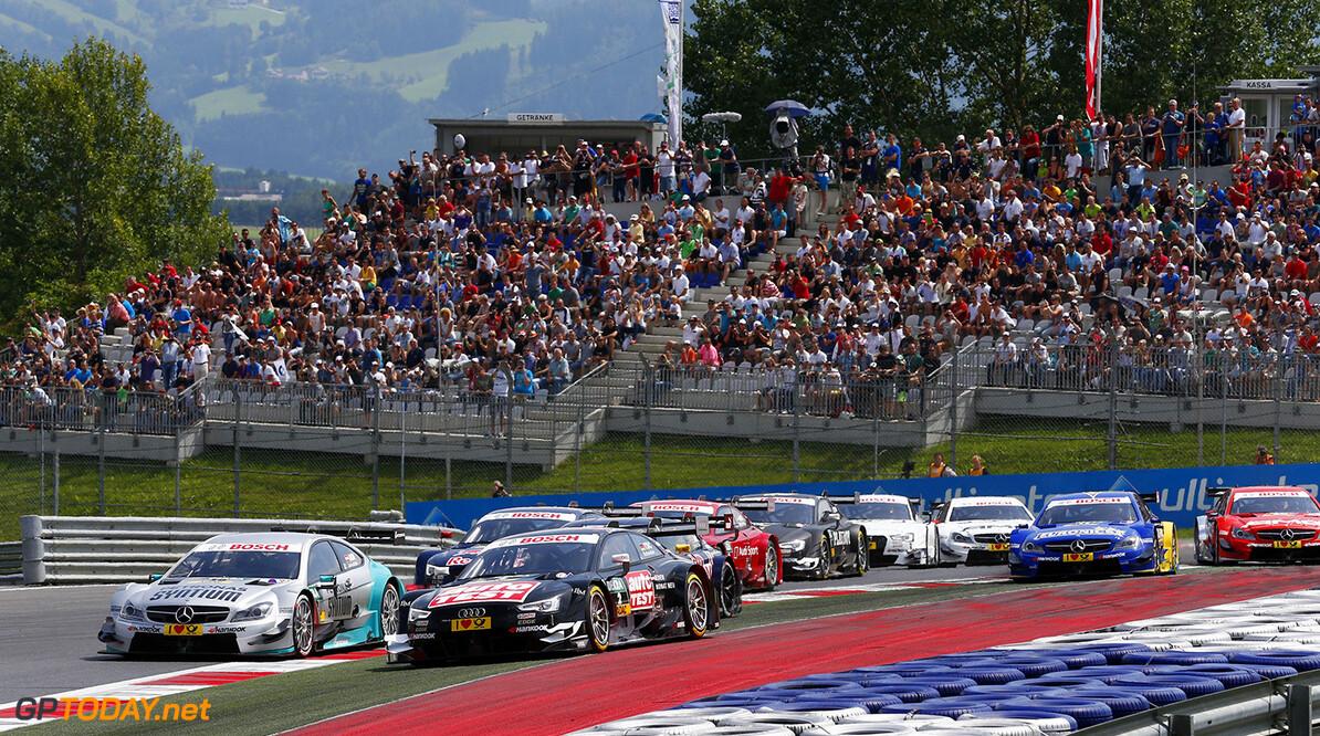 www.hoch-zwei.net Motorsports / DTM 6. race Red Bull Ring Spielberg,   #19 Daniel Juncadella (ESP, Muecke Motorsport, DTM Mercedes AMG C-Coupe),  #2 Timo Scheider (GER, Audi Sport Team Phoenix, Audi RS 5 DTM),  Motorsports / DTM 6. race Red Bull Ring Spielberg HOCH ZWEI Spielberg Austria  Partner01 Partner03 Fahrszene - race action    Rennen - race    Aktion - action    Rennszene fahrend Fahrbild faehrt Aktionsfoto Aktionsbild