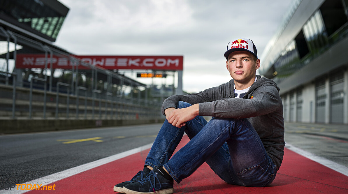 Max Verstappen poses for a portrait at the Red Bull Ring in Spielberg, Austria on August 11th, 2014 // Philip Platzer/Red Bull Content Pool // P-20140812-00238 // Usage for editorial use only // Please go to www.redbullcontentpool.com for further information. //  Max Verstappen - Portrait Philip Platzer    P-20140812-00238