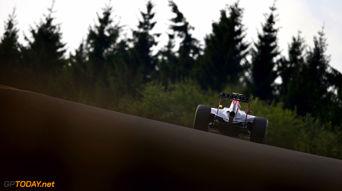 SPA, BELGIUM - AUGUST 22:  Daniel Ricciardo of Australia and Infiniti Red Bull Racing drives during practice ahead of the Belgian Grand Prix at Circuit de Spa-Francorchamps on August 22, 2014 in Spa, Belgium.  (Photo by Clive Mason/Getty Images) *** Local Caption *** Daniel Ricciardo F1 Grand Prix of Belgium - Practice Clive Mason Spa Belgium  Formula One Racing formula 1 Auto Racing Formula One Grand Prix Belgium Grand Prix Belgian Formula One Grand Prix