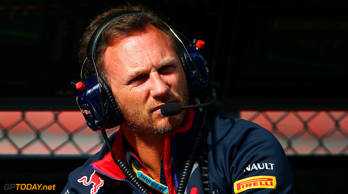 SPA, BELGIUM - AUGUST 22:  Infiniti Red Bull Racing Team Principal Christian Horner looks on from the pit wall during practice ahead of the Belgian Grand Prix at Circuit de Spa-Francorchamps on August 22, 2014 in Spa, Belgium.  (Photo by Dan Istitene/Getty Images) *** Local Caption *** Christian Horner F1 Grand Prix of Belgium - Practice Dan Istitene Spa Belgium  Formula One Racing formula 1 Auto Racing Formula One Grand Prix Belgium Grand Prix Belgian Formula One Grand Prix