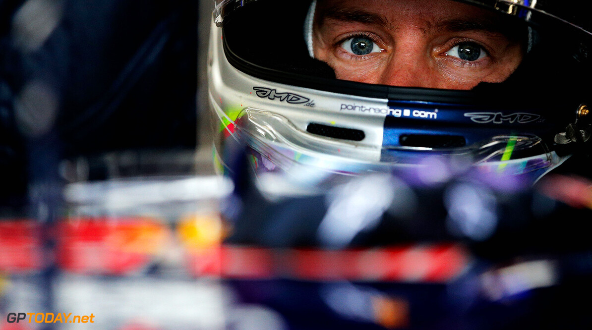 SPA, BELGIUM - AUGUST 24:  Sebastian Vettel of Germany and Infiniti Red Bull Racing sits in his car in the garage during the Belgian Grand Prix at Circuit de Spa-Francorchamps on August 24, 2014 in Spa, Belgium.  (Photo by Dean Mouhtaropoulos/Getty Images) *** Local Caption *** Sebastian Vettel F1 Grand Prix of Belgium Dean Mouhtaropoulos Spa Belgium  Formula One Racing formula 1 Auto Racing Formula One Grand Prix Belgium Grand Prix Belgian Formula One Grand Prix