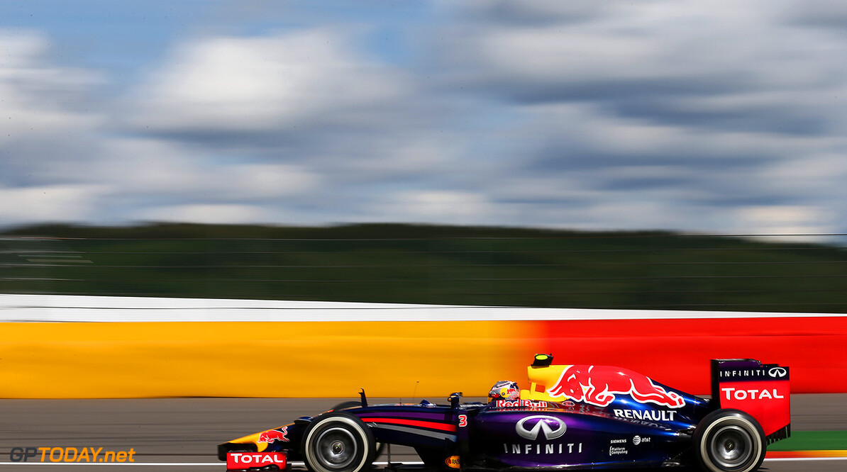 SPA, BELGIUM - AUGUST 24:  Daniel Ricciardo of Australia and Infiniti Red Bull Racing drives during the Belgian Grand Prix at Circuit de Spa-Francorchamps on August 24, 2014 in Spa, Belgium.  (Photo by Mark Thompson/Getty Images) *** Local Caption *** Daniel Ricciardo F1 Grand Prix of Belgium Mark Thompson Spa Belgium  Formula One Racing formula 1 Auto Racing Formula One Grand Prix Belgium Grand Prix Belgian Formula One Grand Prix