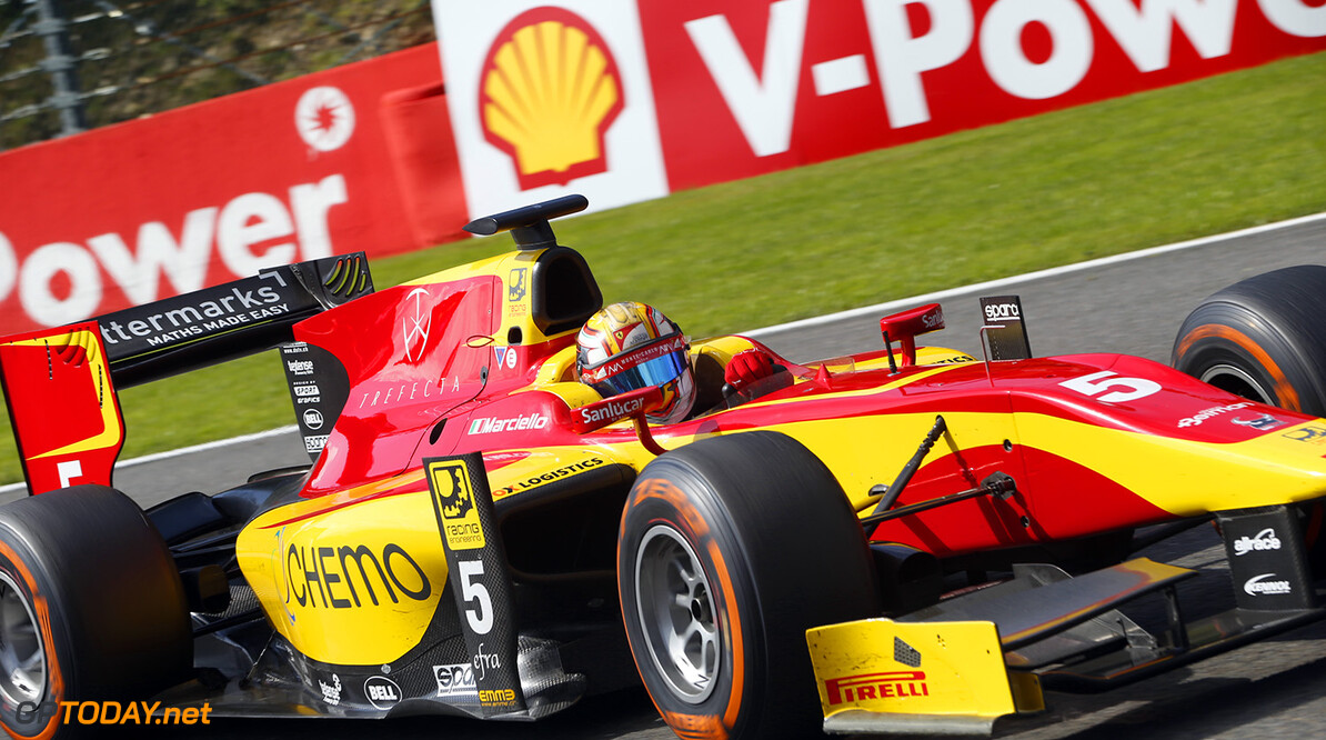 2014 GP2 Series Round 8. Spa-Francorchamps, Spa, Belgium. Sunday 24 August 2014. Raffaele Marciello (ITA, Racing Engineering)  Photo: Jed Leicester/GP2 Series Media Service. ref: Digital Image _ED_3200  Jed Leicester    Race 2 Two Sprint
