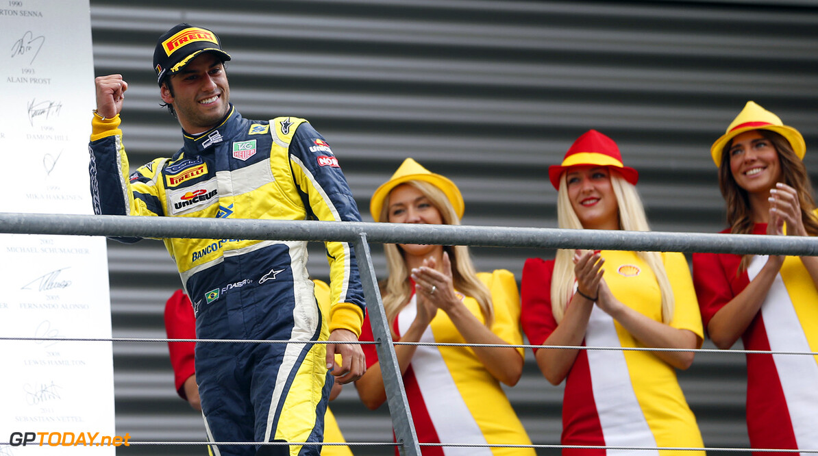 2014 GP2 Series Round 8. Spa-Francorchamps, Spa, Belgium. Sunday 24 August 2014. Felipe Nasr (BRA, Carlin)  Photo: Jed Leicester/GP2 Series Media Service. ref: Digital Image _ED_3237  Jed Leicester    Race 2 Two Sprint