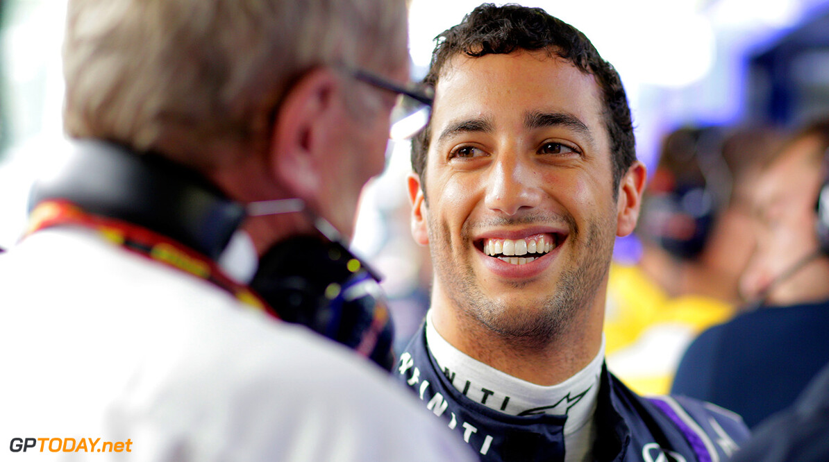 MONZA, ITALY - SEPTEMBER 05:  Daniel Ricciardo of Australia and Infiniti Red Bull Racing speaks with Dr Helmut Marko the Red Bull Motorsport Consultant during Practice ahead of the F1 Grand Prix of Italy at Autodromo di Monza on September 5, 2014 in Monza, Italy.  (Photo by Adam Pretty/Getty Images) *** Local Caption *** Daniel Ricciardo;Dr Helmut Marko F1 Grand Prix of Italy - Practice Adam Pretty Monza Italy