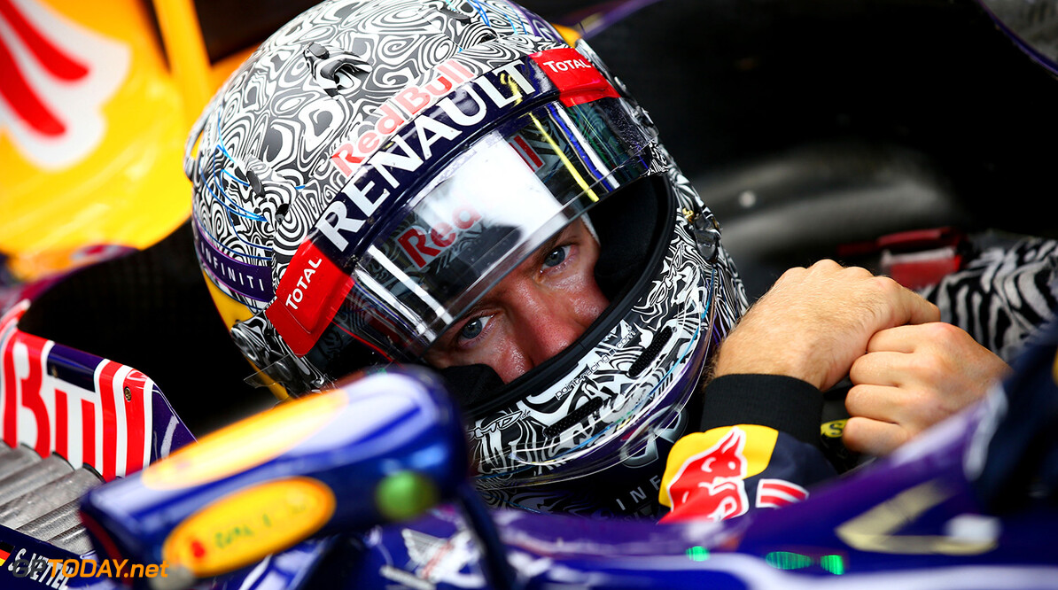 MONZA, ITALY - SEPTEMBER 05:  Sebastian Vettel of Germany and Infiniti Red Bull Racing prepares to drive during Practice ahead of the F1 Grand Prix of Italy at Autodromo di Monza on September 5, 2014 in Monza, Italy.  (Photo by Mark Thompson/Getty Images) *** Local Caption *** Sebastian Vettel F1 Grand Prix of Italy - Practice Mark Thompson Monza Italy