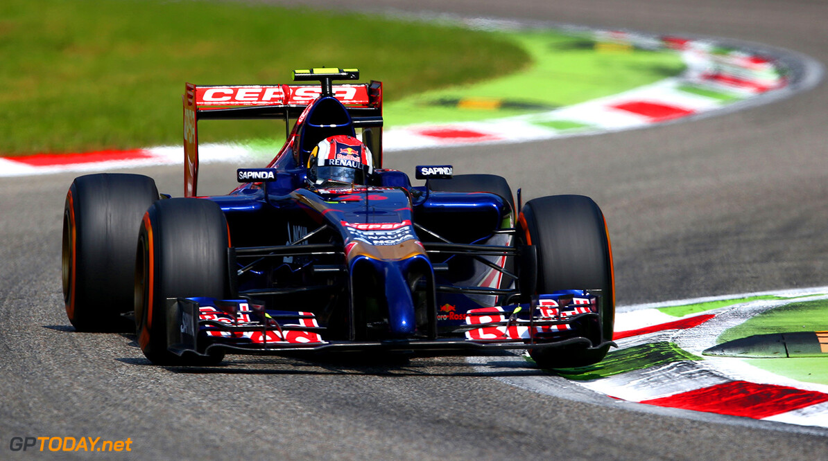 MONZA, ITALY - SEPTEMBER 07:  Daniil Kvyat of Russia and Scuderia Toro Rosso drives during the F1 Grand Prix of Italy at Autodromo di Monza on September 7, 2014 in Monza, Italy.  (Photo by Paul Gilham/Getty Images) *** Local Caption *** Daniil Kvyat F1 Grand Prix of Italy Paul Gilham Monza Italy