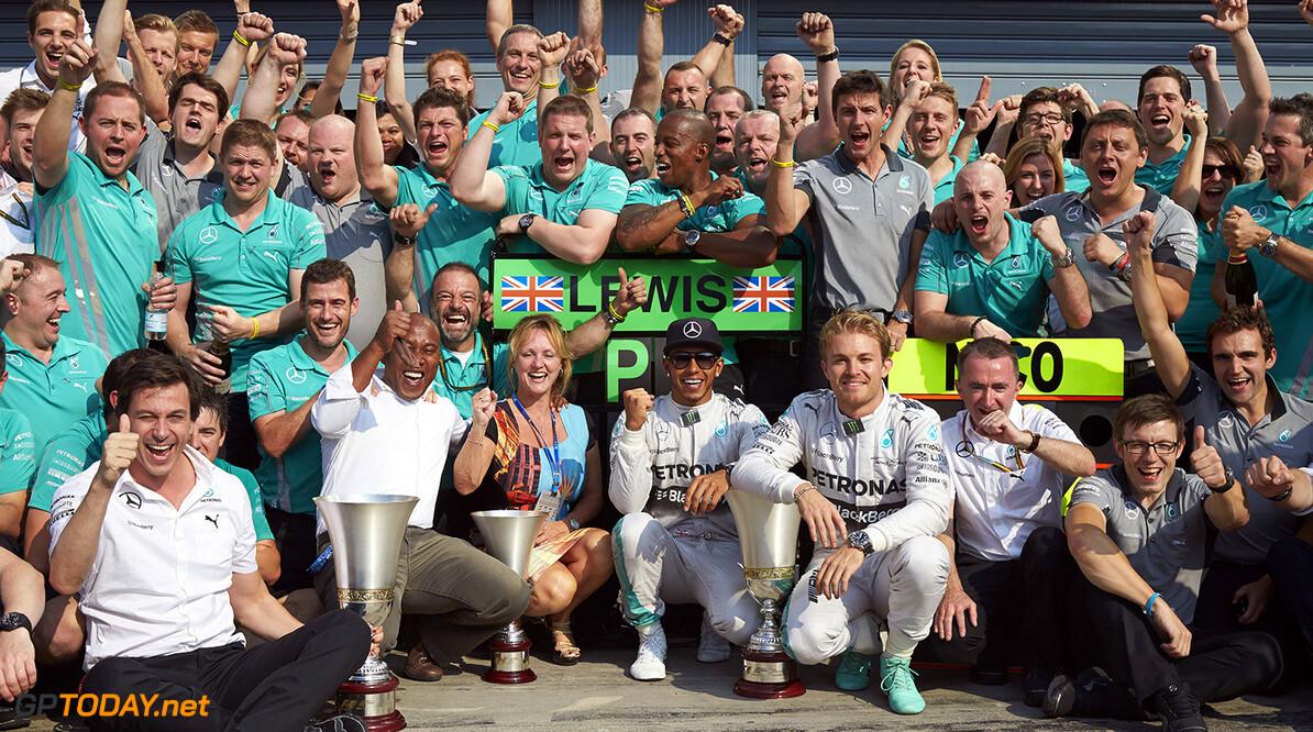 'Lucky' Hamilton won the race in Monza - Rosberg