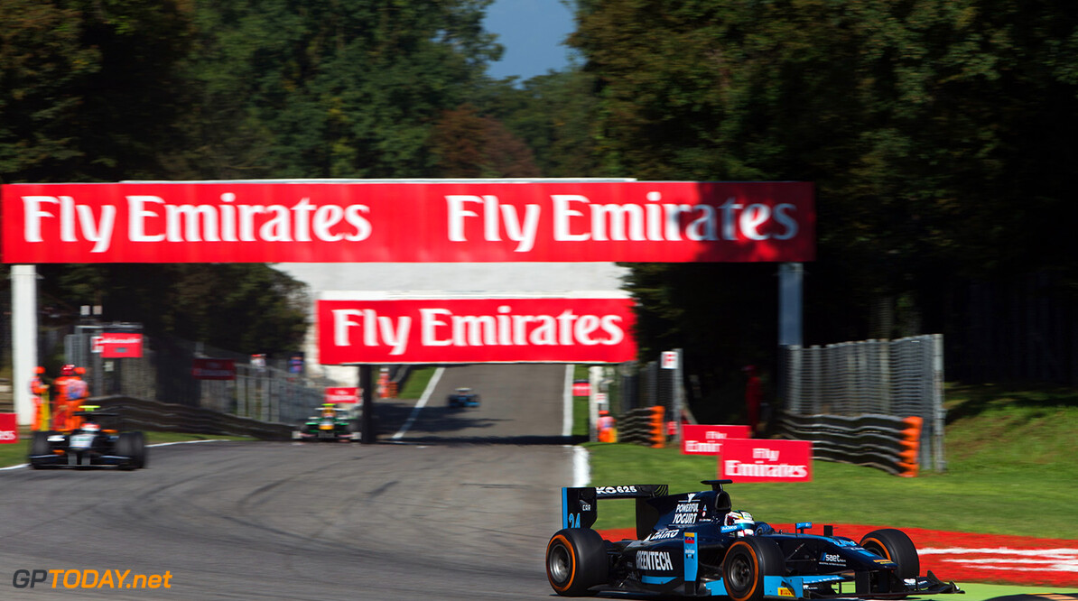 2014 GP2 Series. Round 9.   Autodromo di Monza, Monza, Italy. Saturday 6 September 2014. Nathanael Berthon (FRA, Venezuela GP Lazarus). Photo: Zak Mauger/GP2 Series Media Service. ref: Digital Image _L0U9294   Zak Mauger    Race One 1 Feature