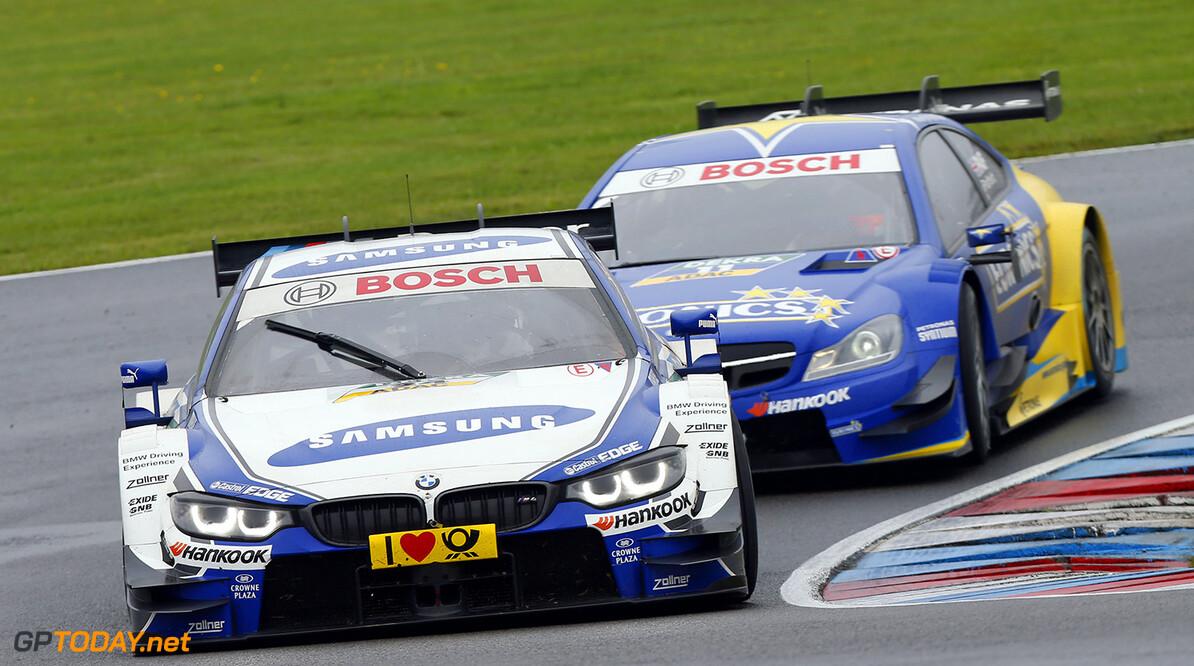#24 Maxime Martin (B, BMW Team RMG, BMW M4 DTM), #11 Gary Paffett (GB, EURONICS Mercedes AMG, DTM Mercedes AMG C-Coupe)